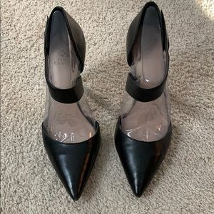 Vince Camino black leather heels